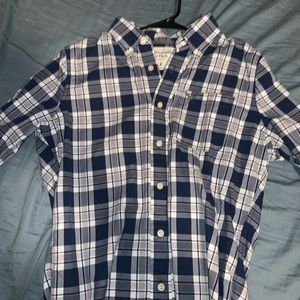 SMALL MENS BUTTON UP ABEROCROMBIE AND FIRCH SHIRT